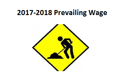 2017-2018 Prevailing Wage